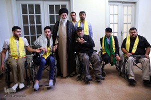Hezbollah Disabled Veterans Meet Leader of Islamic Revolution